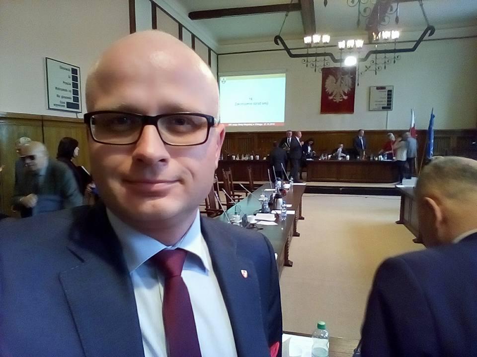 ...na sesji Rady Miejskiej w Elblągu.