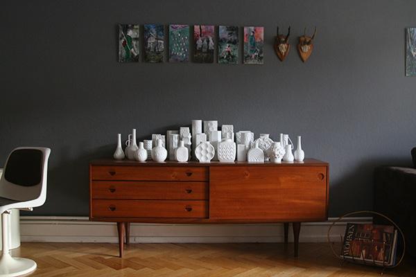Wandfarbe anthrazit grau Wohnzimmer