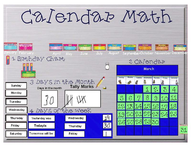 Kindergarten Calendar For Promethean Board : Apple girl amber calendar board vs promethean