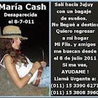 Ayudanos a encontrar a Maria Cash!!!
