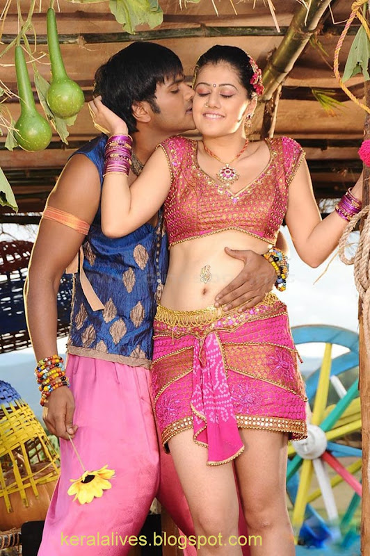 South Tabasee Showing Her Sexy White Thighs Spicy Navel and Deep Cleavage With Manju Manoj in Jhummandinadham telugu movieAmazing Photographs hot images
