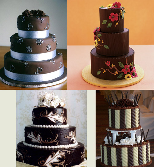 wedding cakes chocolate cream