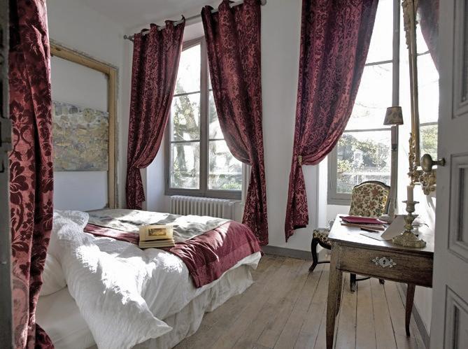 Light-filled bedroom via Art et Decoration as seen on linen and lavender