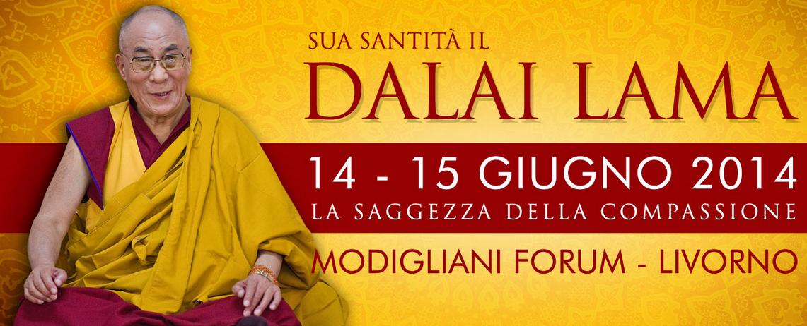 Dalaï Lama Livorno 14-15 Juillet 2014.