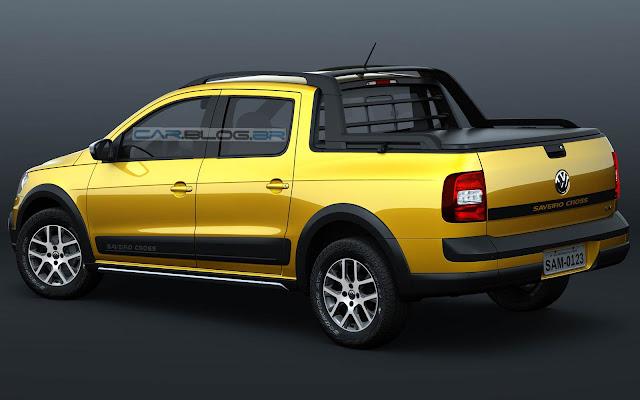 Saveiro Cabine Dupla 2014 - amarela