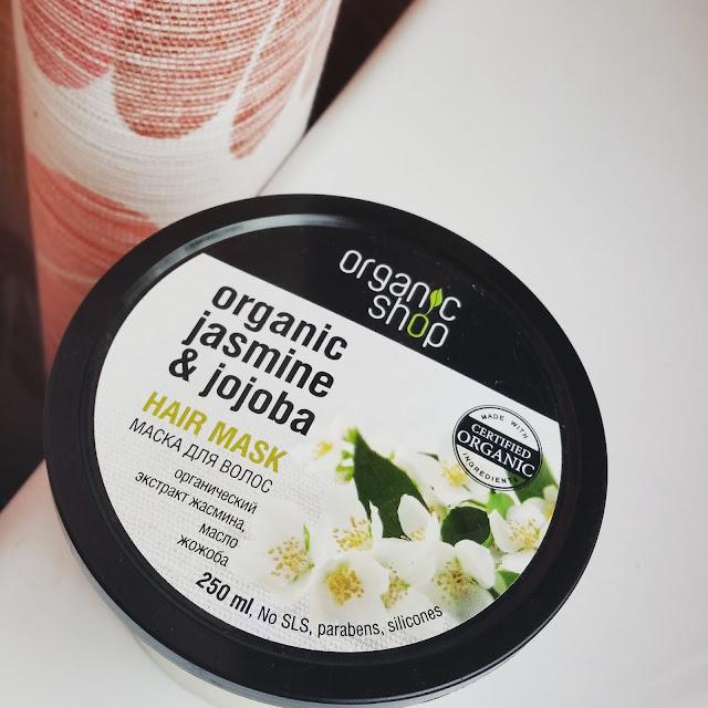 Organic Shop | Jaśminowa maska do włosów | organic jasmine & jojoba
