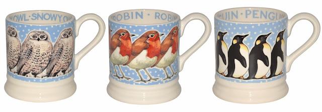 Christmas mugs by Emma Bridgewater
