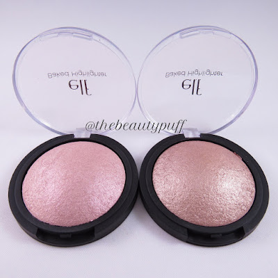 elf cosmetics baked highlighters - the beauty puff