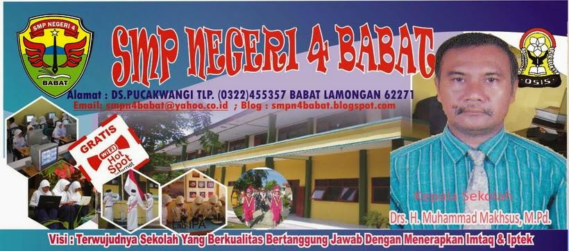 """"""" SMPN 4 BABAT MAJU, PRESTASI YES !"""""""