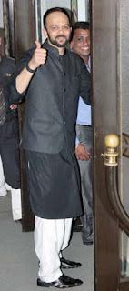 rohit shettyat Director Rohit Shetty's sister's wedding