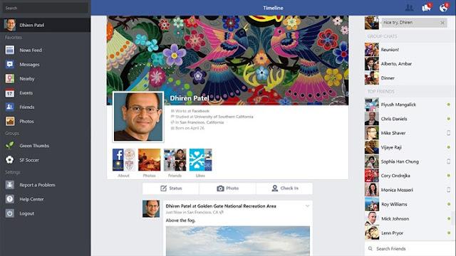تحميل برنامج فيس بوك الرسمي لنظام ويندوز 10 Facebook