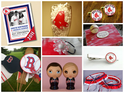 2013 World Series Champions Boston Red Sox Wedding Inspiration Board, curated by Sugarplum Garters