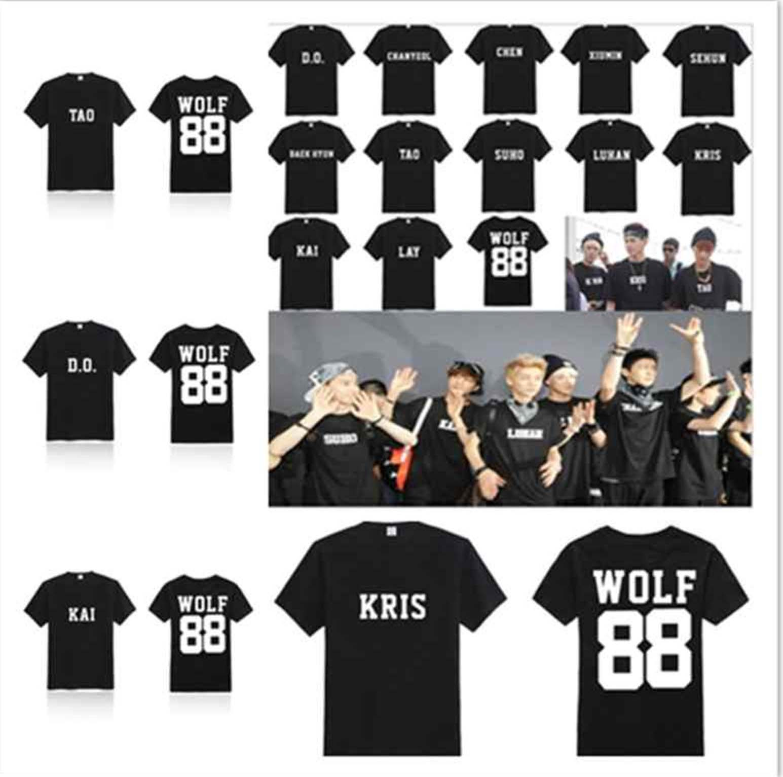 exo shirts kpop