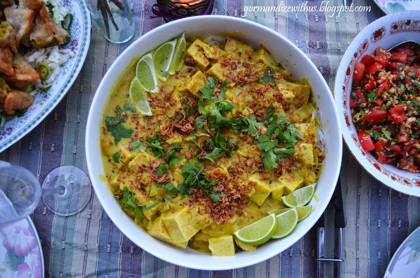 Gormandize vegan ohn no khao swe burmese noodles with chickpea tofu the first dish im sharing for burmese food month is ohn no khao swe one of the countries most common and popular dishes its traditionally made with forumfinder