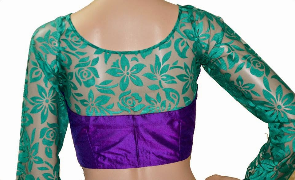 girly girl net blouse neck designs 2015