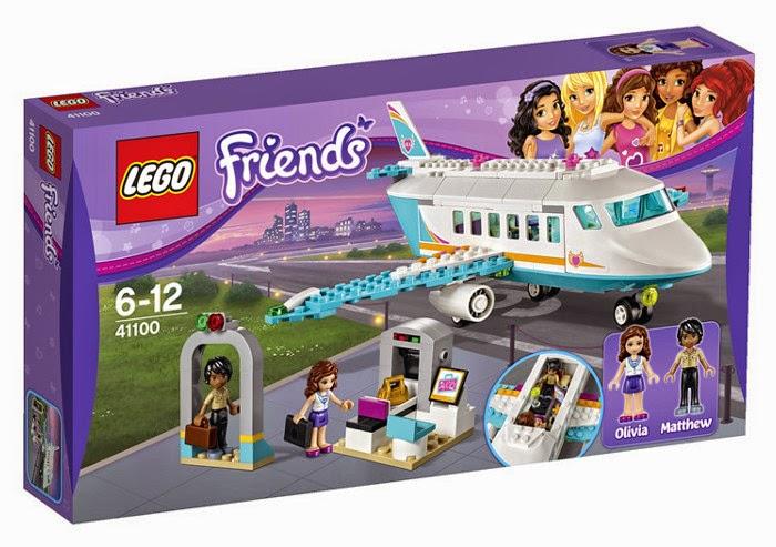 JUGUETES - LEGO Friends  41100 Avión Jet Privado de Heartlake  Heartlake Private Jet  Producto Oficial 2015 | Piezas: 230 | Edad: 6-12 años