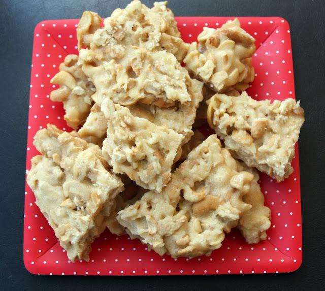 Salted Honey Cashew Brittle