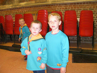 beaver scouts church hall chairs stacked up