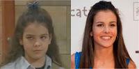 Sandra Blázquez con 11 años y actualmente, con 26
