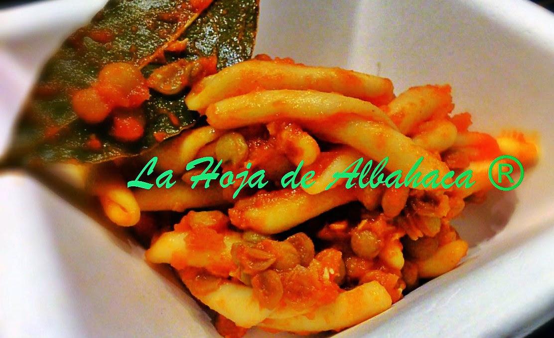 pasta lentejas, lentejas, recetas italiana, tradicción