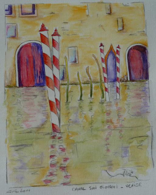 Canal San Giovani - Venise  - Jicé