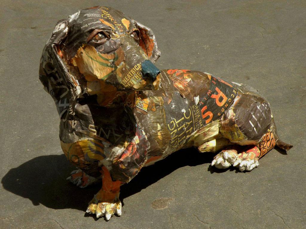 hindsight lifesized dog sculptures by tullman collection artist will kurtz. Black Bedroom Furniture Sets. Home Design Ideas
