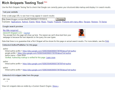 Rich Snippets Testing Tool Verified