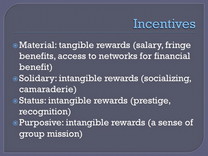 Clark and Wilson Incentives that organizations use to attract and retain employees and volunteers