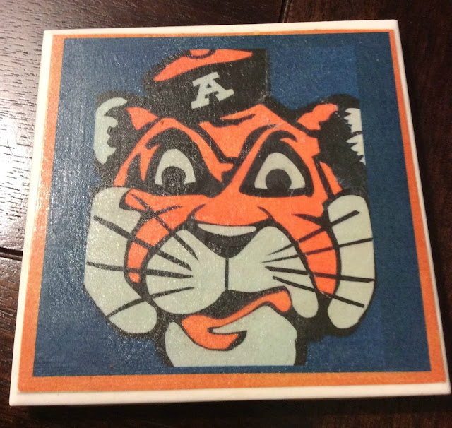 Coaster design representing a sports team