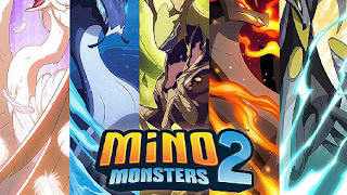 Screenshots of the Mino monsters 2: Evolution for Android tablet, phone.