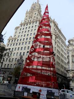 Árbol Navidad Vodafone Gran Vía