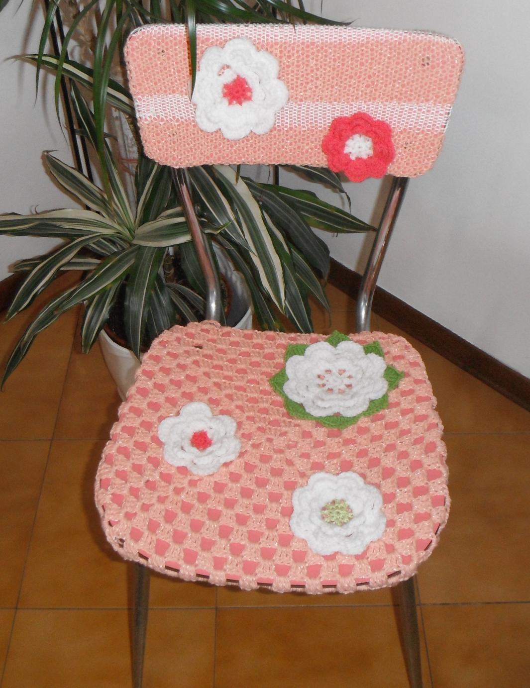 Antichi ricami sedia rosa for Sedia rosa