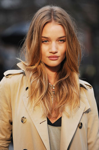 rosie huntington whiteley hair color. hair trend done well,