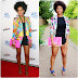 Get the Look: Solange Knowles Floral Print Blazer & Black Playsuit