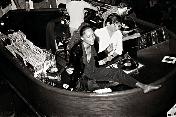 Diana Ross on the DJ booth Studio 54