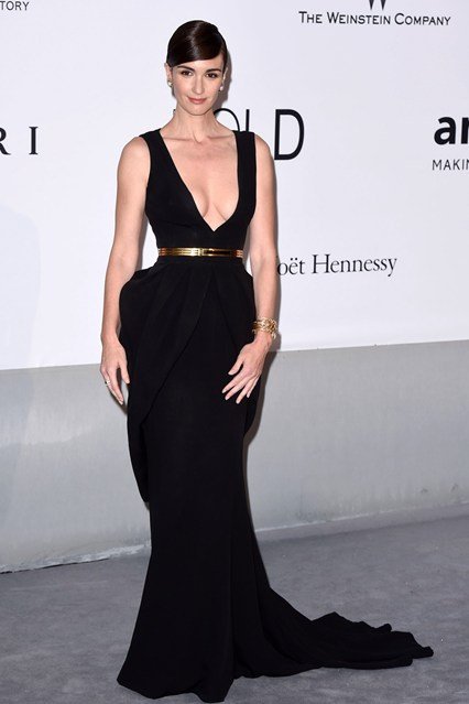 Paz Vega in a Fitriani Couture dress at Cannes, amfAR Gala 2014