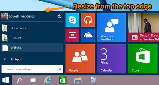 Tùy biến menu Start trong Windows 10