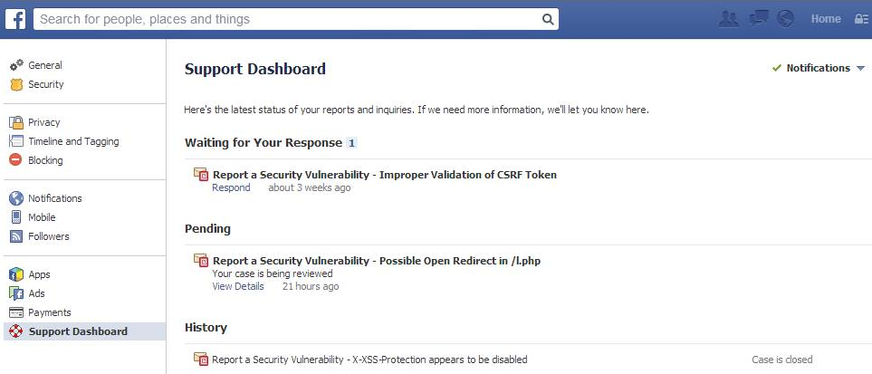 Facebook Opens New Support Dashboard
