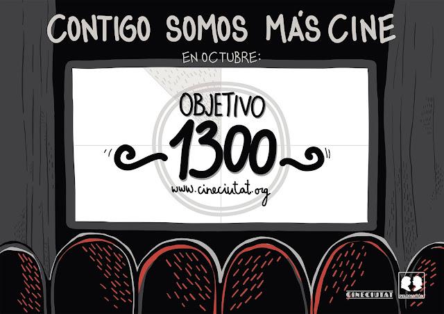 """Cartel """"Contigo somos mas cine"""" para CineCiutat"""