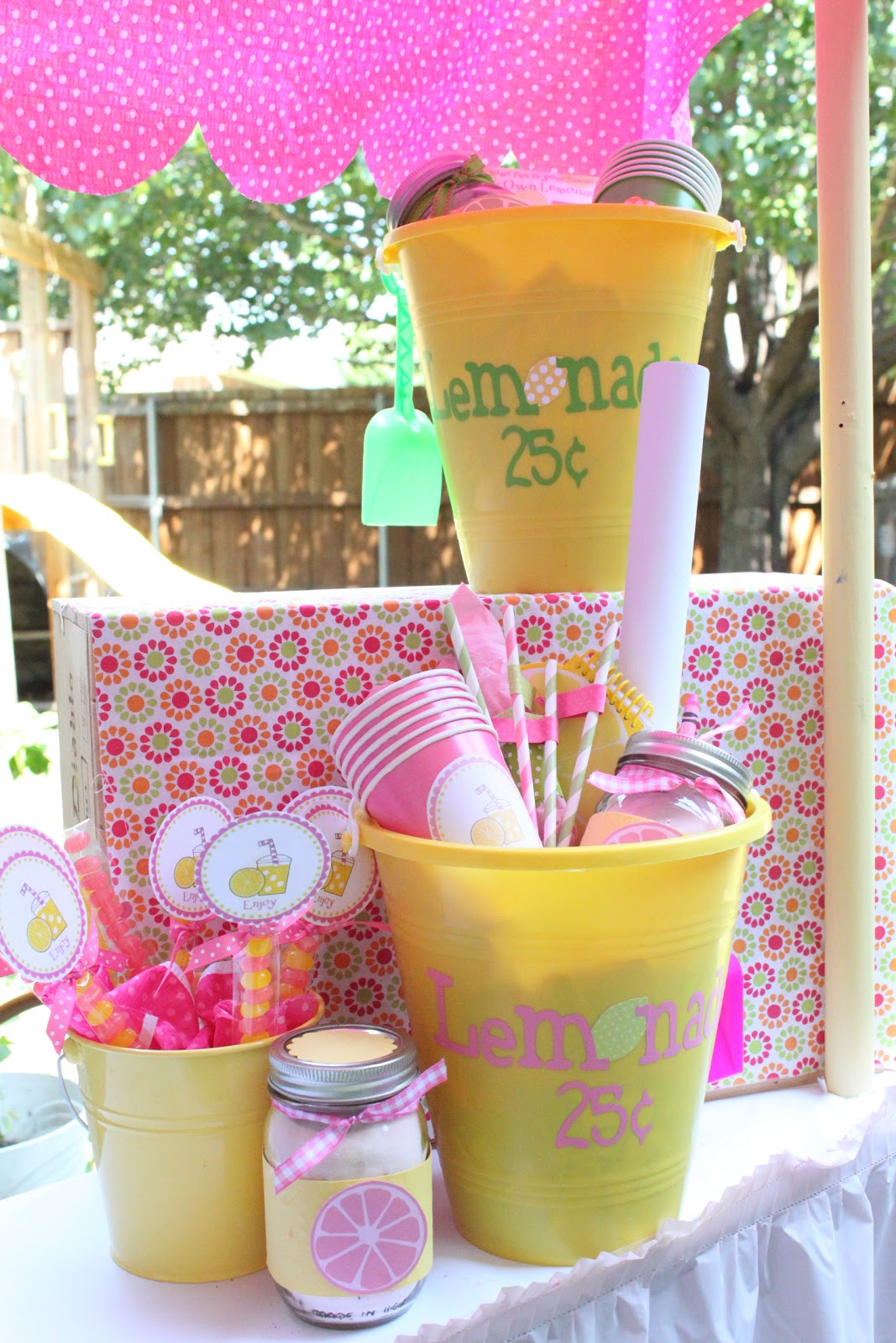 Lemonade stand kit free printable and summer camp link for Cool lemonade stand ideas