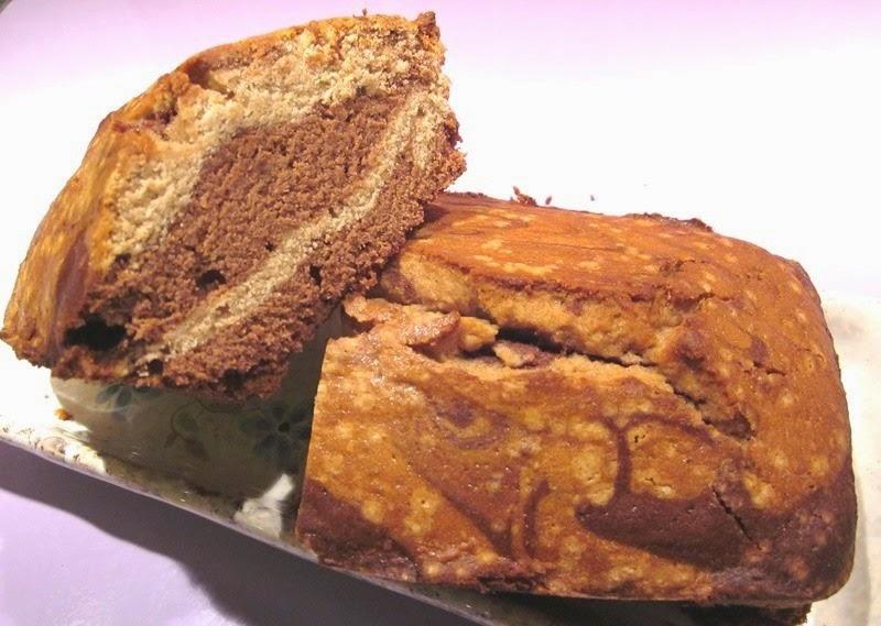 marbré au chocolat sans gluten