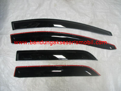 Talang Air Mugen Hitam 3M D/B MAZDA 2 SEDAN