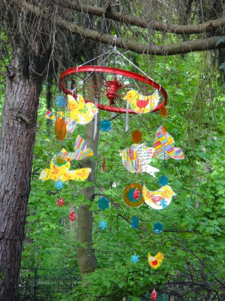 Ines felix kreatives zum nachmachen sommerliches mobile for Alles fur den garten