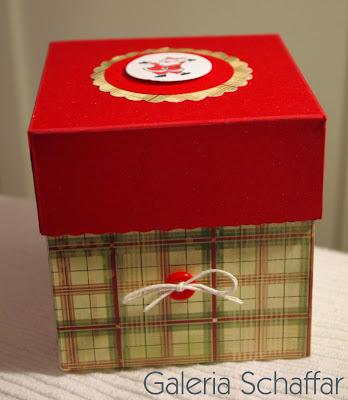pudełko na prezent świąteczny na mikołaja małe świąteczne