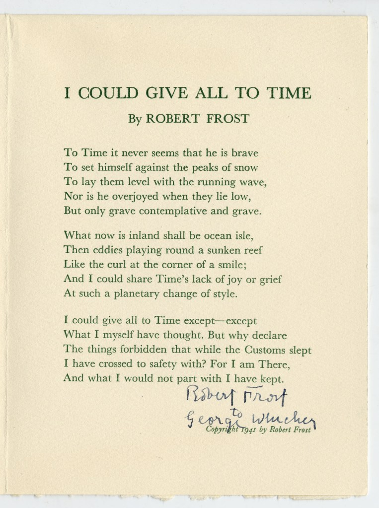 robert frosts poetry Frost, robert (26 mar 1874-29 jan 1963), poet, was born robert lee frost in san francisco to isabelle moodie, of scottish birth, and william prescott frost, jr, a descendant of a devonshire frost who had sailed to new hampshire in 1634.