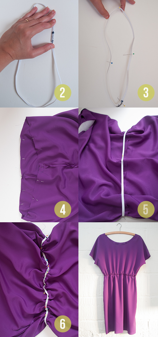 How to Sew - adding a waist to a dress
