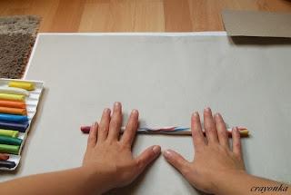 Prace nad muszlą ślimaka - wałkowanie plasteliny