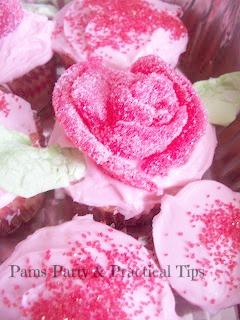 Gumdrop Rose Cupcakes