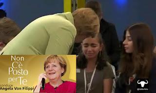 Merkel, De Filippi, TV, profugjhi, satira