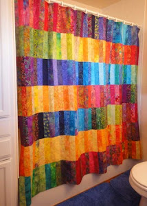 Jelly Roll Shower Curtain Tutorial